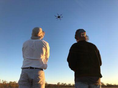 Drone flying Multirotor