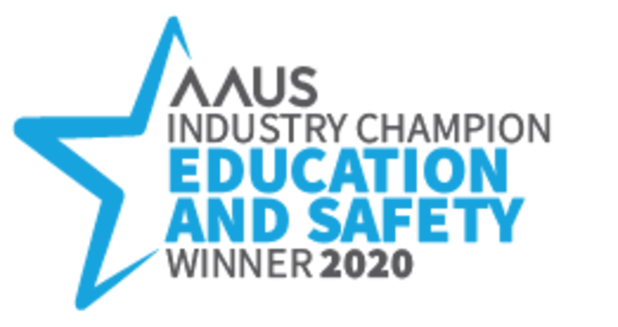 AAUS 2020 education and safety award winner